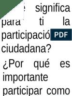 Qué Significa Para Ti La Participación Ciudadana