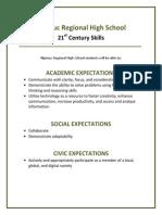 Nipmuc 21st Century Learning Expectations
