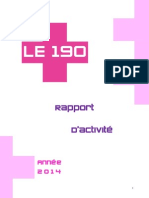 Rapport Annuel 2014 Centre Sante Le190