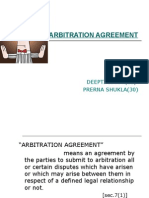 SMALL PRESENTATION ON ARBITRATION AGREEMENT