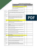 Checklist Audit SMK3 (Berdasarkan PP No.50 Tahun 2012)