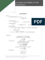 A Level - Maths - List of Formulae