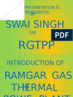 Ramgarh Gas Thermal Power Plant Ppt Presentation