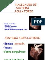 Generalidades de Sistema Circulatorio (Anato II)