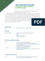 Currículo Claudio Alex Gonçalves Carvalho