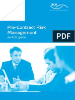 Pre Contract Risk Management ACE Guide 2009
