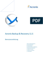 Acronis Backup & Recovery 11.5 Handbuch