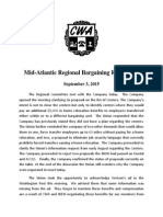Mid Atlantic Regional Bargaining Report # 33