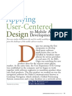 Applying user-centered design to mobile application development