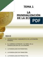 La Mundializacion de La Economia