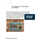 Role of Commercial Bank in the Economic Development of INDIA