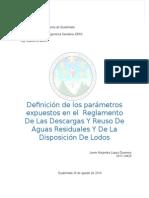 ACUERDO GUBERNATIVO No. 236-2006 . REGLAMENTO DE LAS DESCARGAS Y REUSO DE AGUAS RESIDUALES  Y DE LA DISPOSICIÓN DE LODOS