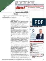 09-03-2015 Pese a Recortes Entregará Buenas Cuentas Alcalde de Reynosa