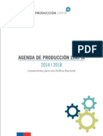 Agenda de Produccion Limpia 2014-2018