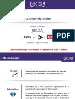 Odoxa Pour ITélé-CQFD Et Paris Match - La Crise Migratoire