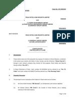 PHRL v TIL & Ors - Consolidated Particulars of Claim - FINAL