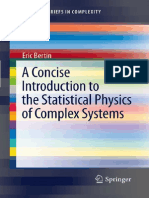(SpringerBriefs in Complexity) Eric Bertin (Auth.)-A Concise Introduction to the Statistical Physics of Complex Systems-Springer-Verlag Berlin Heidelberg (2012)