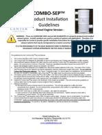 ComboSep Diesel Install Guidelines Jan09 PDF