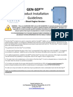 GenSep Diesel Install Guidelines Jan09 PDF