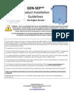 GenSep Gas Install Guidelines Jan09 PDF
