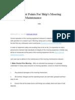 10 Importantes Puntos Mantenimiento Equipos Mooring Operation