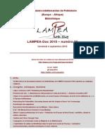 LAMPEA-Doc 2015 – numéro 23 / Vendredi 4 septembre 2015