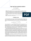 Ternary Logic and Mass Quantum Numbers