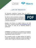 Plan de Negocios - GENTILEZA PÁGINA BANCO MACRO
