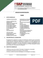 PROYECTO DE INVESTIGACIÓN I silabo