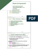 Creacion de clases y referencia de objetos en java