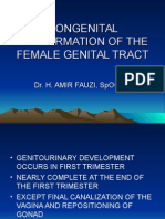 Congenital Malformation of the Female Genital Tract