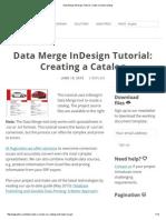 Data Merge InDesign