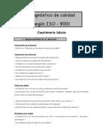 Cuestionario Diagnostico ISO 9001