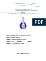ejemplo de informe de la ortografía de la real academia española