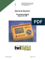 TE 1700 Manual