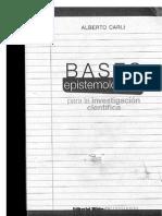 Bases Epistemológicas Para La Investigación. Alberto Carli
