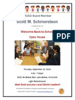 Open House Invite from LAUSD Board Member Scott M. Schmerelson