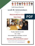 Open House Invite from LAUSD Board Member Scott M. Schmerelson