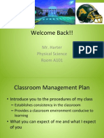 first day management plan physical science