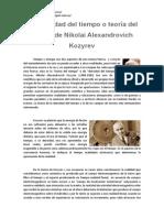 Densidad Del Tiempo o Teoría Del Tiempo de Nikolai Alexandrovich Kozyrev