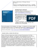 Simultaneous Determination of Tinidazole and Furazolidone in Suspension by HPTLC and HPLC