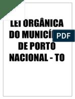 Lei Orgânica de Porto Nacional