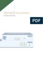 Sophos Operating Instructions SG105 115 125 135 Oina