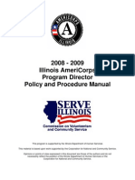 AmeriCorps Program Director Policy and Procedure Manual  |   State Director's Manual