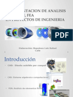 Inplementacion de Analisis Cad, Cam, Fem