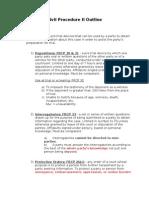 CivPro II Outline