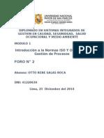 Diplomado en Sistemas Integrados de Gestion en Calidad