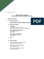 Resumen Ejecutivo - Gerencia Regional de Trabajo