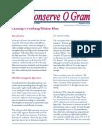 Conserve O Gram - Choosing UV-Filtering Window Films