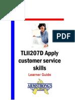 TLII207D - Apply Customer Service Skills - Learner Guide